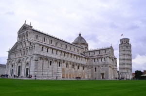 Leaning-Tower of Pisa and Cathedral
